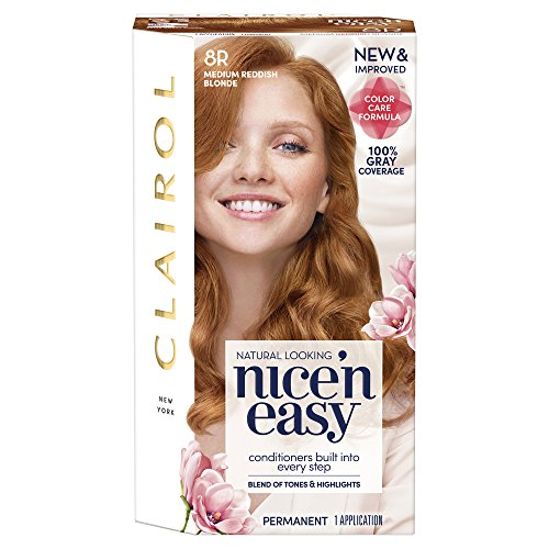 Clairol Coloration permanente Nice 'n Easy avec Color Blend Technology - Tons chauds et reflets - Couleur 108 - Blond roux naturel