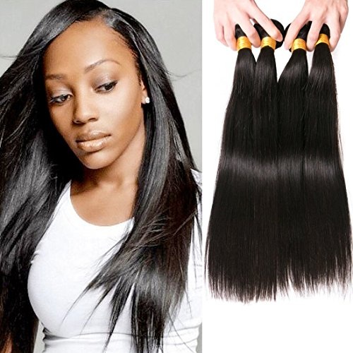 Cheveux Peruviens Straight Human Hair Bundles Tissage Cheveux Naturels Tissage Naturel Pas Cher 4 Lot For Women 16 18 20 22 Inch