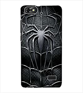 ColourCraft Black Spider Design Back Case Cover for HUAWEI G PLAY MINI