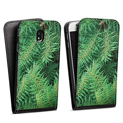 DeinDesign Flip Case kompatibel mit Samsung Galaxy J7 2017 Tasche Hülle Farn Forest Wald