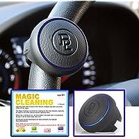 [ BL Edge Power Handle - Blue] Manopola del volante dell'automobile / Comoda impugnatura / Installato in maggior parte dei veicoli / Design compatto / Piccolo raggio di sterzata e la rotazione liscia /