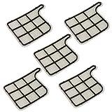 5 Stück Motorschutzfilter Schutzfilter Filter passend für Vorwerk Kobold VK 135 136