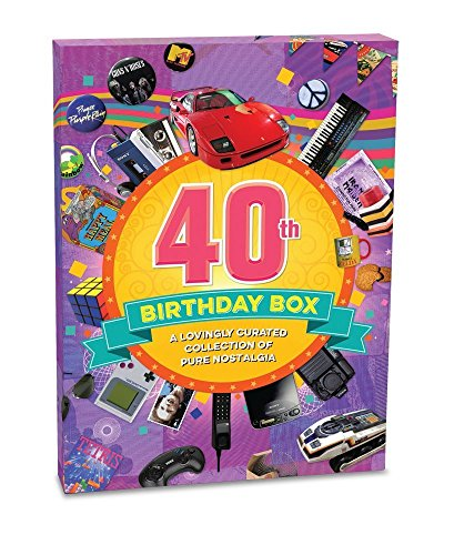 40th Birthday Retro Memorabilia Collection Gift Box - Collage