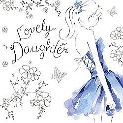 Twizler Geburtstagskarte für Tochter mit Swarovski Crystal Finish, Silberfolie und einzigartigem Aquarell-Effekt - Partykleid - Geburtstagskarte für sie