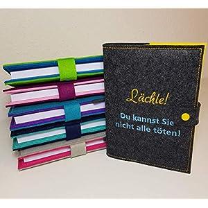 Kalender 2020 in A5 mit Hülle aus Filz individuell bestickt - personalisiert - Buchhülle - Notizbuch - Organizer