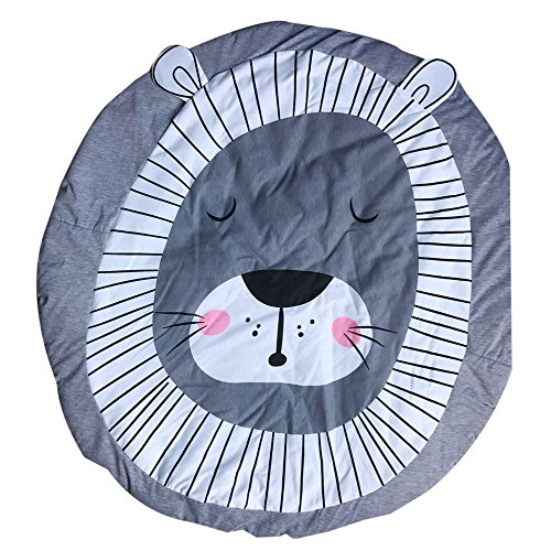 "CHshe Creative 3D Cartoon Printed Playmat, ""Dream of Lion"" Non Slip Soft Carpet for Babies Creeping Playing Games and More Uses 51fd5cXhEBL"