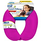 Cloudz Bright Pink Adult Microbead Travel Neck Pillow