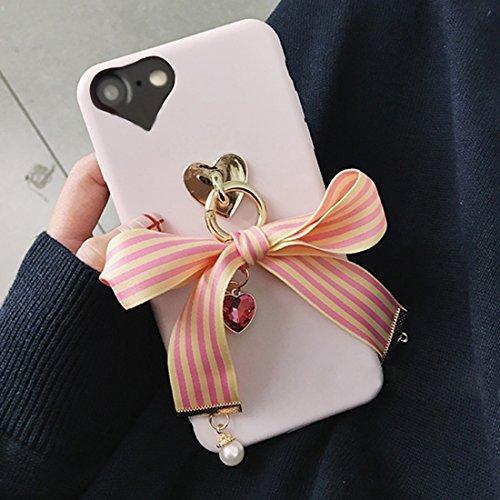 Phone case & Hülle Für iPhone 6 / 6s, Bowknot-Band-Art-weicher TPU schützender rückseitiger Abdeckungs-Fall mit Juwel-Anhänger ( SKU : Ip6g6211r ) Ip6g6211y