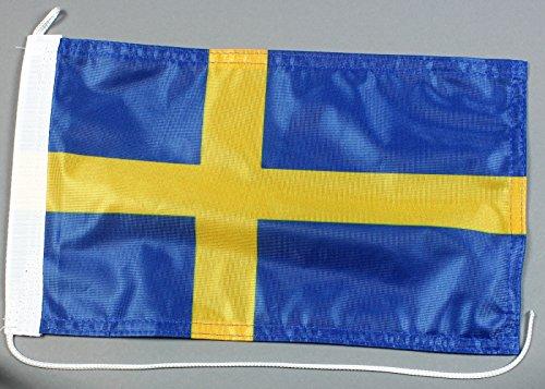 Buddel-Bini Bootsflagge Schweden 20 x 30 cm in Profiqualität Flagge Motorradflagge