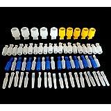 70piezas acanalado silicona Plug Kit alta temperatura resistente hasta 350C, Carrocero Herramientas Suministros, revestimiento de polvo