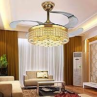 42 Zoll LED Kristall Kronleuchter Deckenventilator Licht Klappventilator  Kronleuchter Wohnzimmer Esszimmer Dekoration