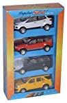 An ideal festive gift which guarantees happiness on your child's face with four most popular SUV's packed in one case. Each set contains 4 toys, namely Fortune, Sport Echo, Duster and SUV.