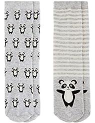 Accessorize Femme Lot de 2paires de chaussettes motif panda