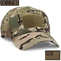 12f97511d7e STEVEN G Tactical Military Hat Adjustable Baseball Cap 6 Vent Holes USA  Flag for Hunting Fishing
