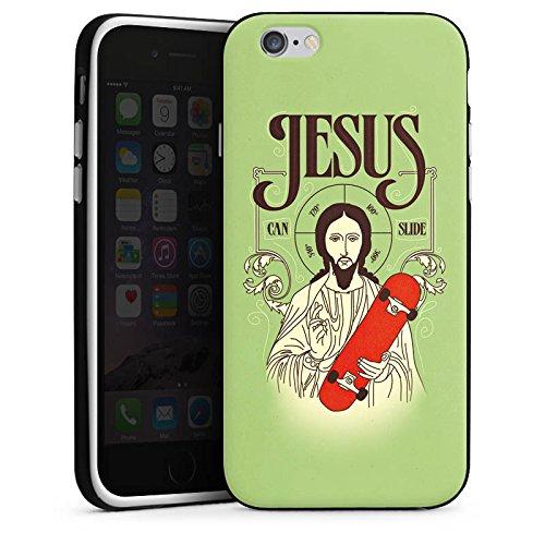 Apple iPhone 5s Housse Étui Protection Coque Jésus Skateboard Rigolo Housse en silicone noir / blanc