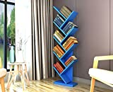 ZCJB Baum Bücherregal Einfache Wohnzimmer Boden Bücherregal Persönlichkeit Schlafzimmer Kinder Bücherregal Wirtschaftliche Art Multi-color Optional ( Farbe : Blau )
