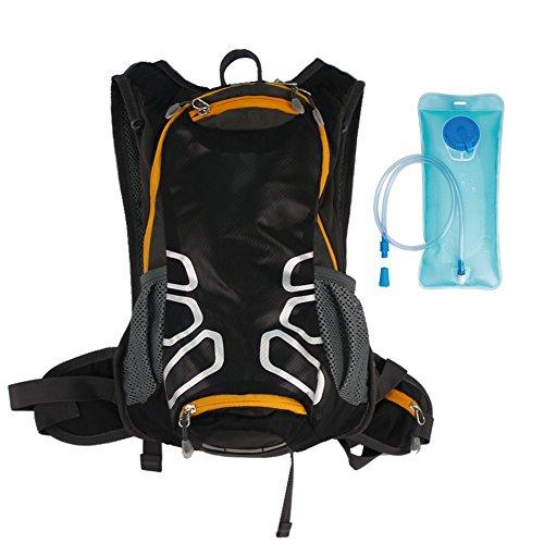 pengge Wandern Rucksack für Trekking Klettern Camping Reisen, mit einem gratis Wasser Aufbewahrung Blase Tasche schwarz