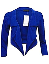 New Womanwear Cropped Waterfall Blazer Jacket