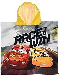 Disney Poncho Sea Cars Pixar SAETTA Mcqueen Cruz Ramirez Toalla Micro Algodon Robe CM. 100X50