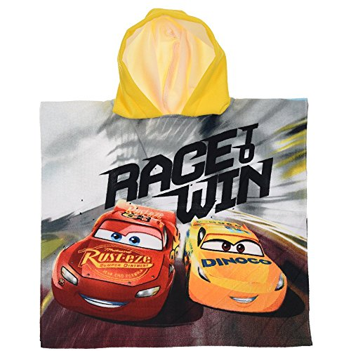 Unbekannt Poncho Meer Disney Pixar Cars Lightning Saetta McQueen Cruz Ramirez BADTUCH Micro Cotton cm. 100X50 - ER1930 / ()