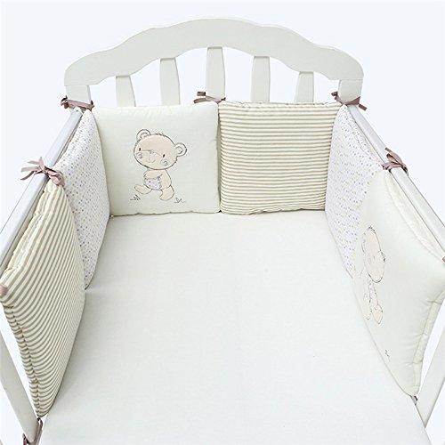 Baby Bett Stoßstange Baumwolle Safe Krippe Stoßfänger Bettwäsche Sets - Baby-krippe Bettwäsche-sets