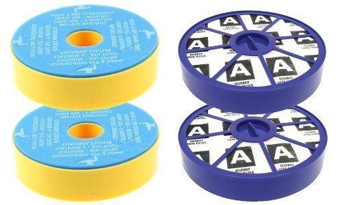 First4spares Waschbarer Vormotor Filter und Post-motor Allergie HEPA Filter Kit Für Dyson DC19 DC20 DC29 Staubsauger (je 2 Stück) -