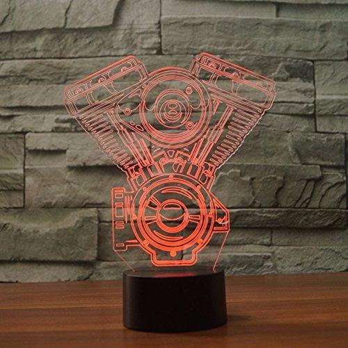 Motorrad 3D Visuelle LED Nachtlicht Für Kinder Touch Button USB Motor Tischlampe Baby Schlaf Beleuchtung Wohnkultur Leuchten