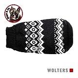 Wolters | Norweger Pulli für Mops & Co. schwarz/weiß | 40 cm