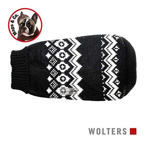 Wolters | Norweger Pulli für Mops & Co. schwarz/weiß | 50 cm