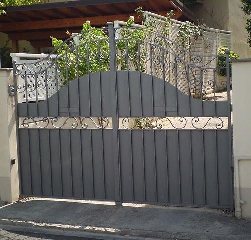 Cancello carrabile ferro battuto . realizzazioni personalizzate . 094