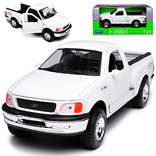 Welly Ford F-150 Pick-Up Weiss 10. Generation 1996-2004 1/24 Modell Auto (Ford F 150 2003)