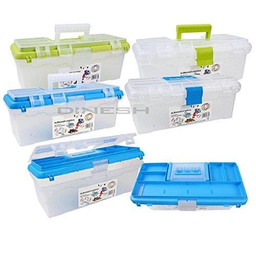 (339) Werkzeugkasten Aufbewahrungsbox Angelkoffer Nähkasten Köderbox Sortierkasten Kasten Box (Sortiereinsatz Kiwi)