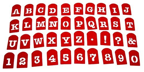 Perfect Brownie Pan Stencil Set of 40 Pieces Including Alphabets, Numbers & Signs. Plastic Letter Stencils, Plastic Stencil Set. by Closeoutservices -