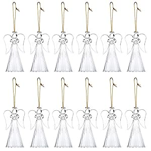 Nuptio 12 Teile/Satz Glas Engel Ornamente/Hängende Christbaumschmuck/Hochzeit Tisch Baum Dekoration