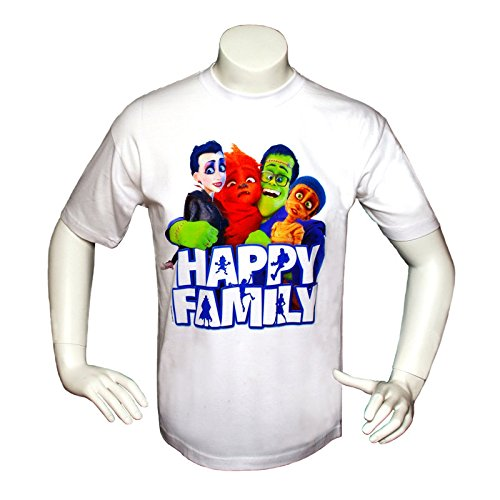 Happy Family T-shirt Blanc