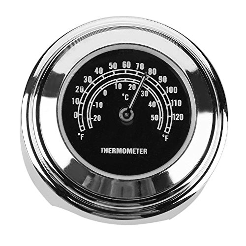 Dcola Motorradthermometer, 22-25 mm, Handtemperaturmessung, Motorrad, Harley, modifizierte Teile, wasserdicht, Motorrad-Lenker, Thermometer, Lenker, schwarzes Zifferblatt