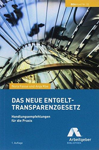 Das neue Entgelttransparenzgesetz: Handlungsempfehlungen für die Praxis (BDAktuell)