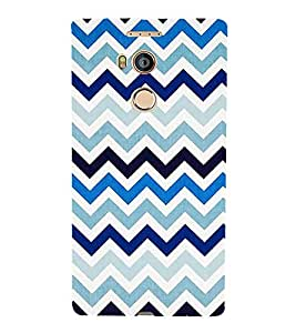 PrintVisa Designer Back Case Cover for Gionee Elife E8 (abstract geometric pattern art mountains)