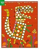 1000 autocollants mosaïques brillants - Le dinosaure - Dès 4 ans