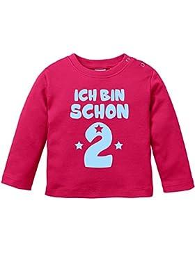 EZYshirt® ich bin schon zwei   BIO Baby T-Shirt Longsleeve
