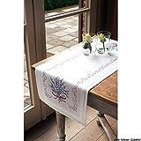 Vervaco PN-0013257 Läufer 2369 Lavendel vorgedruckt Kreuzstich