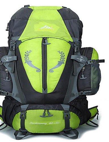 HWB/ 80 L Rucksack Camping & Wandern / Klettern / Reisen Outdoor Wasserdicht / Wärmeisolierung / Skifest / tragbar / MultifunktionsGrün / Rot Orange