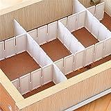 SUPEWOLD 6Schublade Schindel Trennwand Schrank DIY Aufbewahrung Organizer/Haushalt Kunststoff 23.006Trennwand, Weiß, 43x5cm/16.93inchx1.96inch