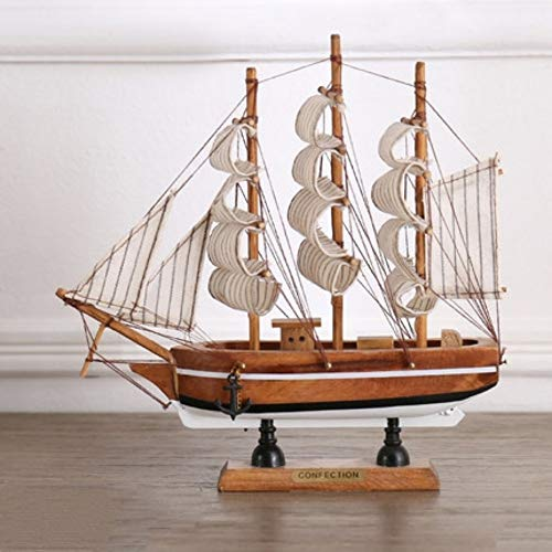 hacxiaoming Estatua Estilo Mediterráneo Mini Artesanías De Vela Modelo De Madera Creativo...