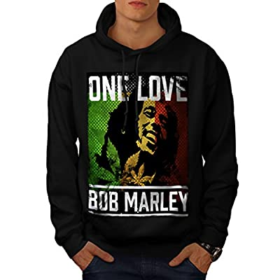 Bob Marley One Love Free Soul Men NEW Black S-5XL Hoodie | Wellcoda