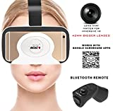 IRUSU MINI VR headset - Virtual reality 3d vr headset with BIGGER 42MM HD OPTICAL RESIN VR GLASSES for better FOV - LIGHTWEIGHT