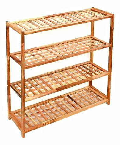 Shelf cabinet for shoes made of solid wood for bathroom shelf, kitchen shelf kids shelf floor stand shelf 69 x 80 cm
