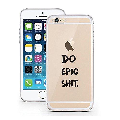 Blitz® Fanty Schutz Hülle Transparent TPU Cartoon Comic Case iPhone Panda & Elefant iPhone 6 6s DO EPIC SHIT