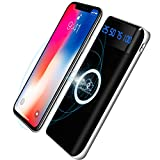 Wireless Charger Power Bank, KUPPET 20000mAh 5W-2 in 1 Kabellos Qi-Ladegerät und Powerbank Für 3 Geräte gleichzeitig Aufladen kompatibel mit iPhone X,iPhone 8,Samsung Galaxy S9/S8/S7 Note 8