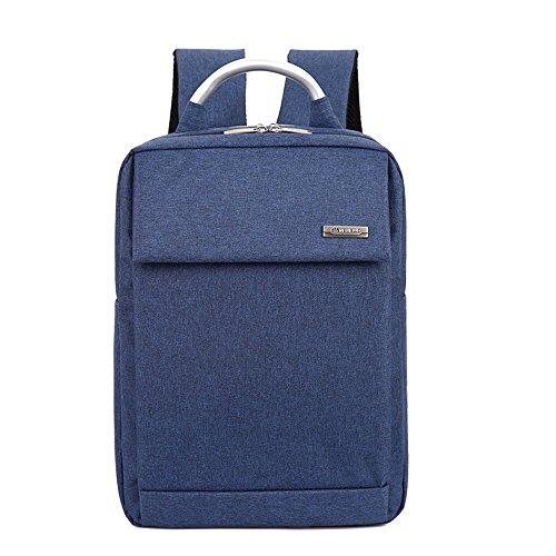 Herren Stoff Rucksack für Laptops Reise Schule blau Reise Tornister Rucksack Rucksack weiter machen (Utility Tote Laptop)